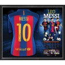 Lionel Messi signed Barcelona FC jersey FRAMED