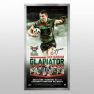 Sam Burgess signed Rabbitohs memorabilia