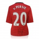Robin van Persie signed Manchester United jersey image full view