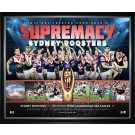 Sydney Roosters 2013 PREMIERS poster framed Image Full View